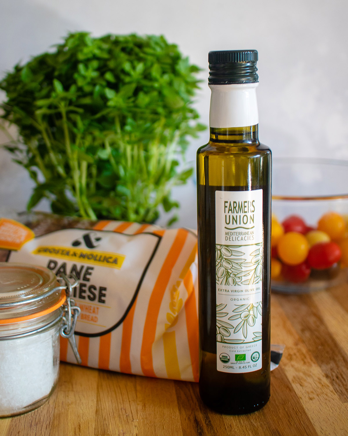 Brushetta using Farmers Union Greek Extra Virgin Olive Oil